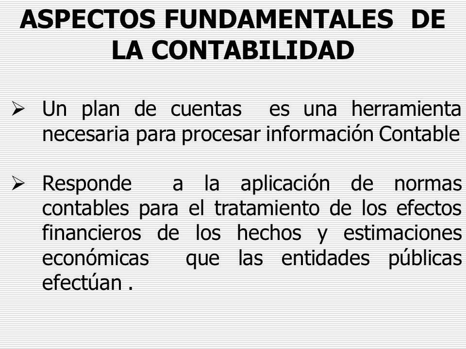ASPECTOS FUNDAMENTALES DE LA CONTABILIDAD