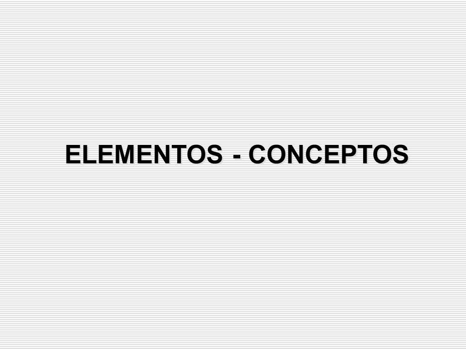 ELEMENTOS - CONCEPTOS