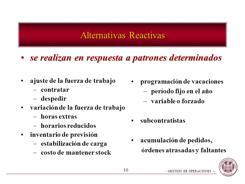 Alternativas Reactivas