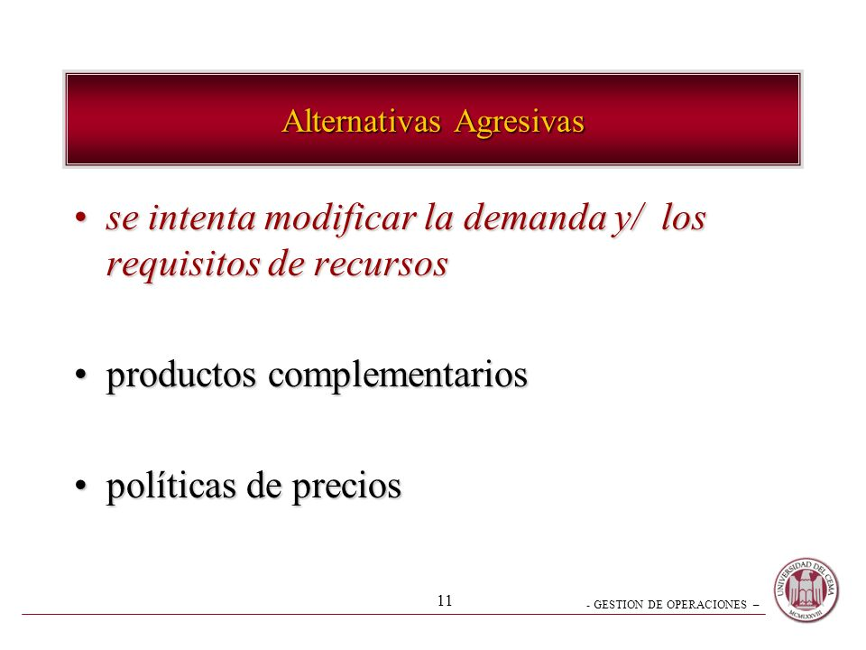 Alternativas Agresivas