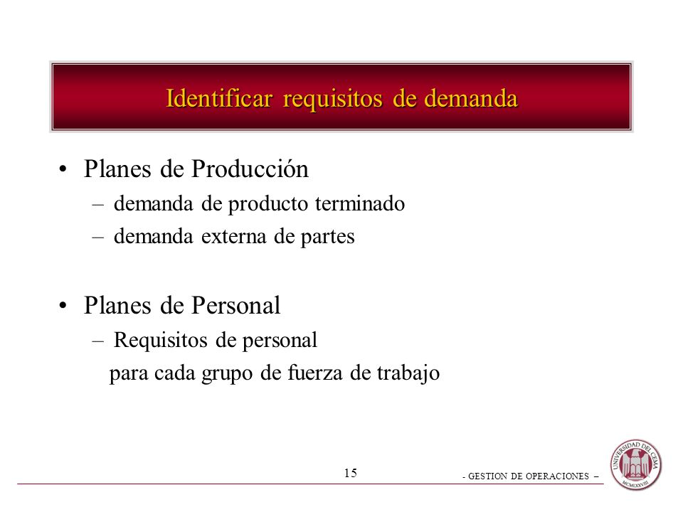 Identificar requisitos de demanda