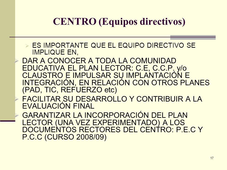 CENTRO (Equipos directivos)