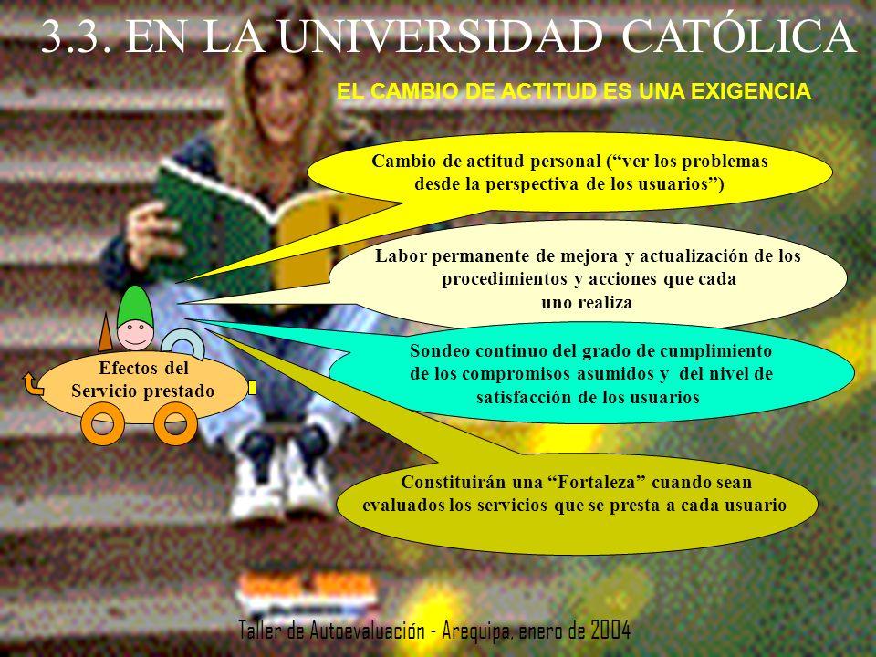 3.3. EN LA UNIVERSIDAD CATÓLICA