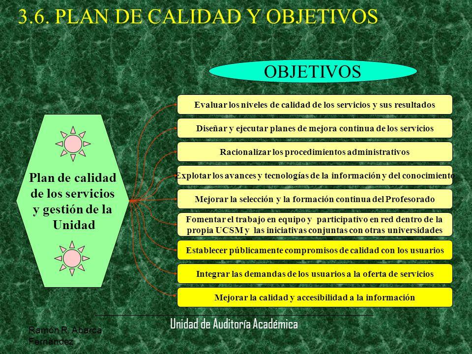 3.6. PLAN DE CALIDAD Y OBJETIVOS