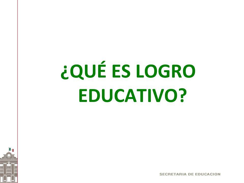 ¿QUÉ ES LOGRO EDUCATIVO