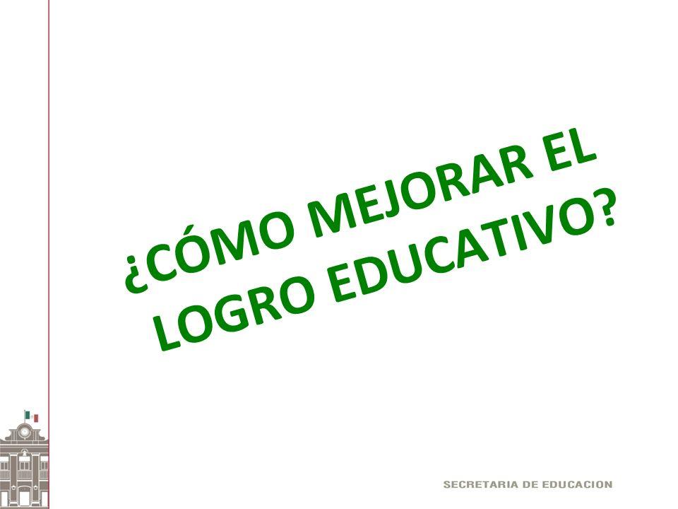 ¿CÓMO MEJORAR EL LOGRO EDUCATIVO