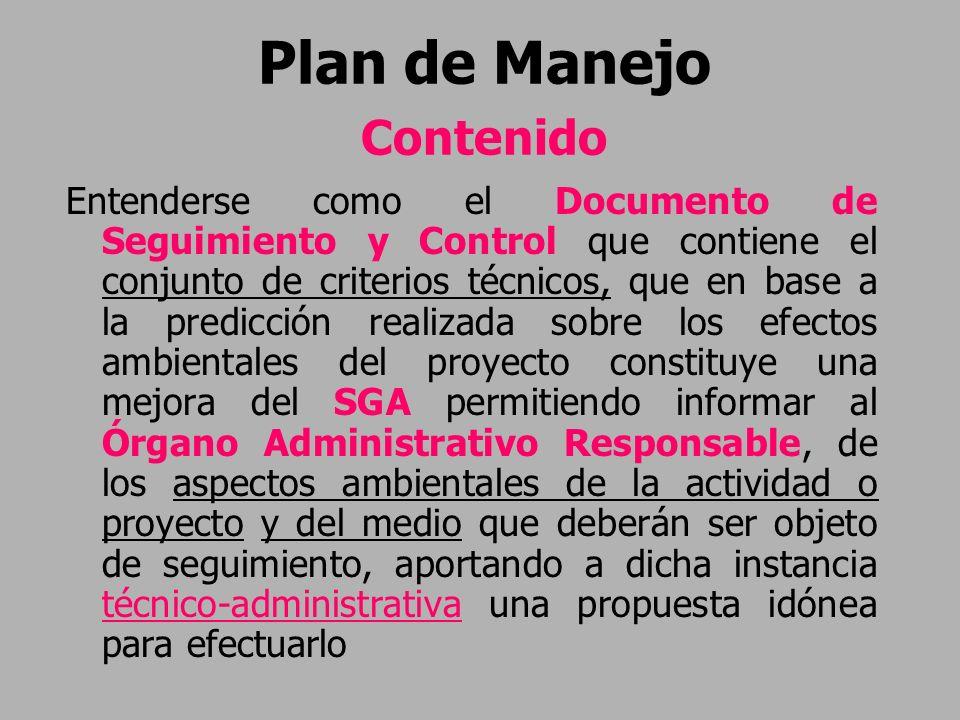 Plan de Manejo Contenido