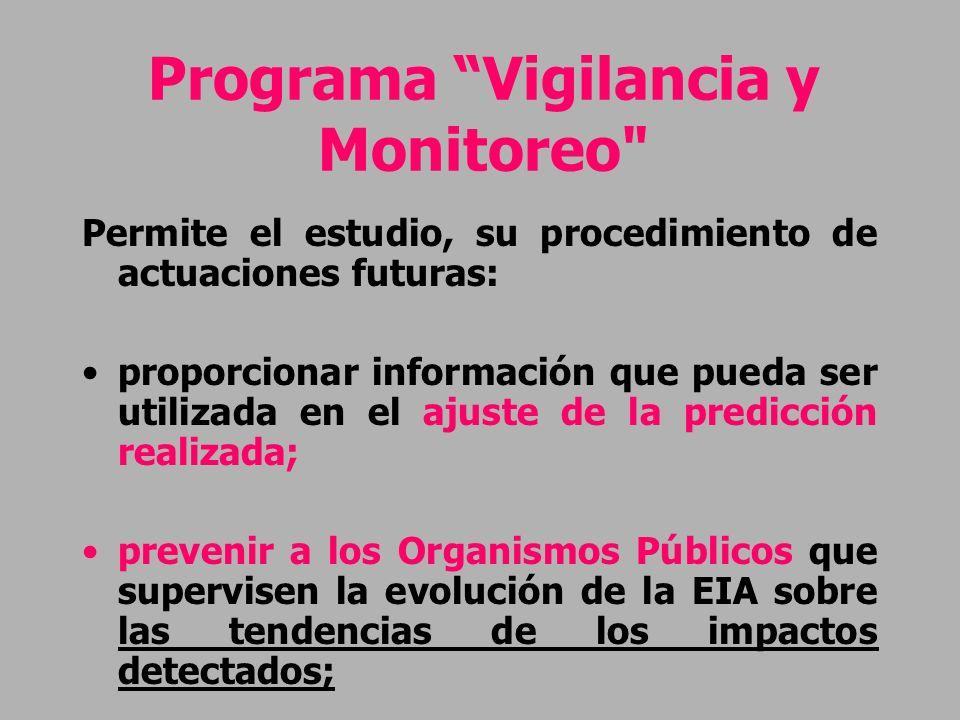 Programa Vigilancia y Monitoreo