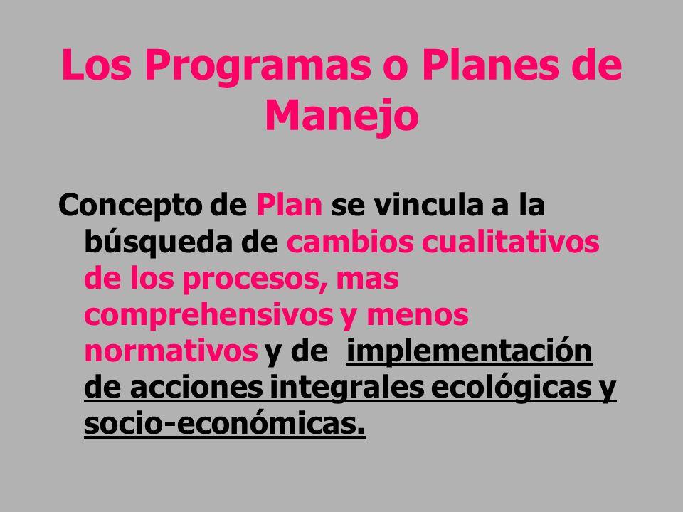 Los Programas o Planes de Manejo