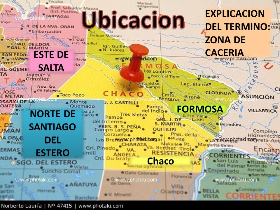 Ubicacion EXPLICACION DEL TERMINO: ZONA DE CACERIA ESTE DE SALTA