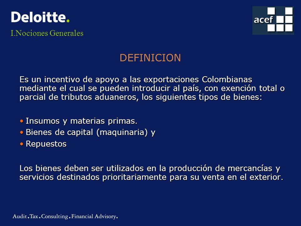 DEFINICION Nociones Generales