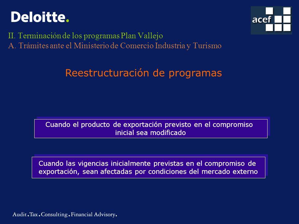 Reestructuración de programas