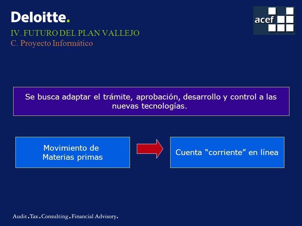 IV. FUTURO DEL PLAN VALLEJO C. Proyecto Informático
