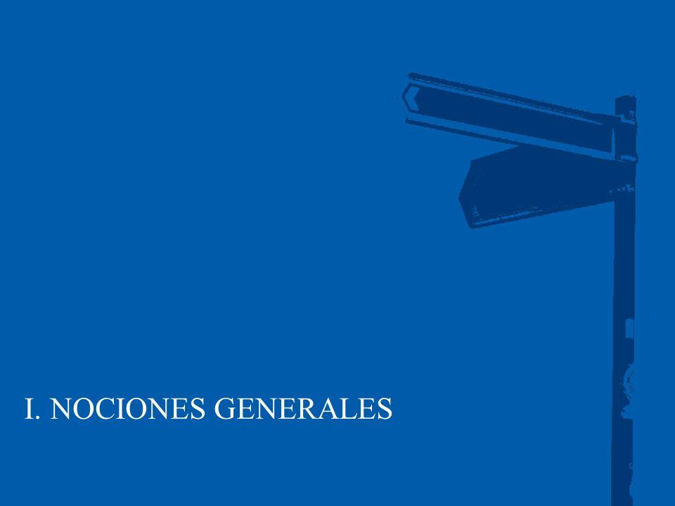 I. NOCIONES GENERALES