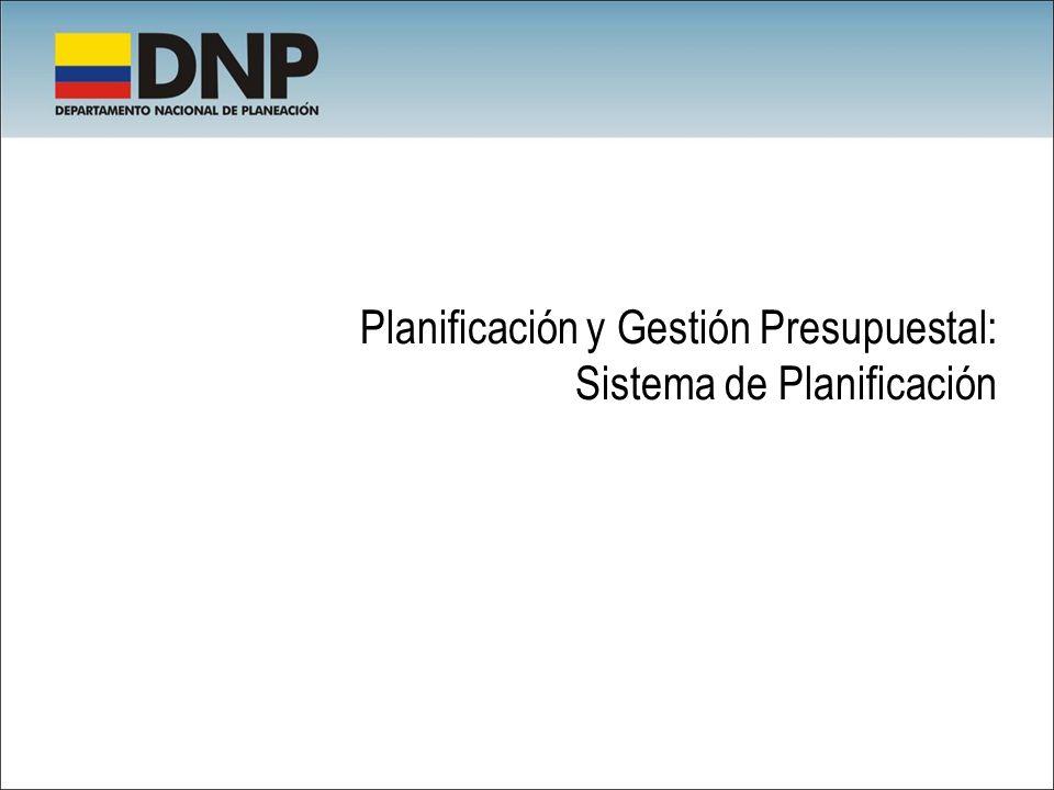 Planificación y Gestión Presupuestal: