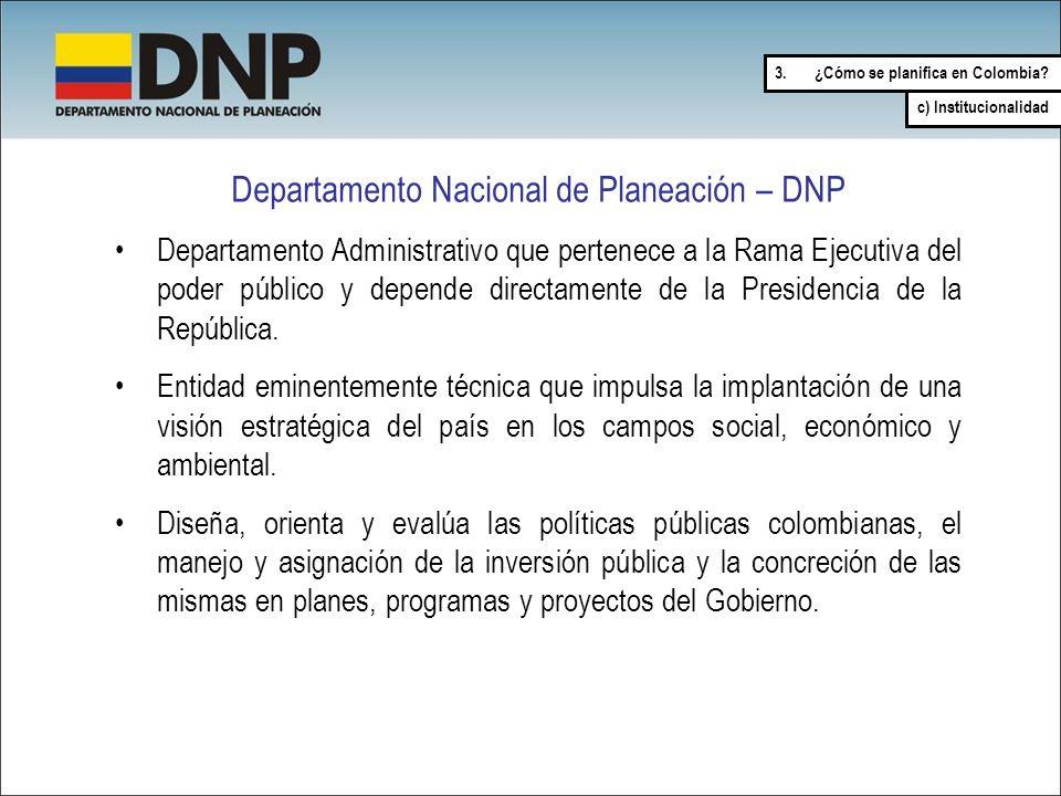 Departamento Nacional de Planeación – DNP
