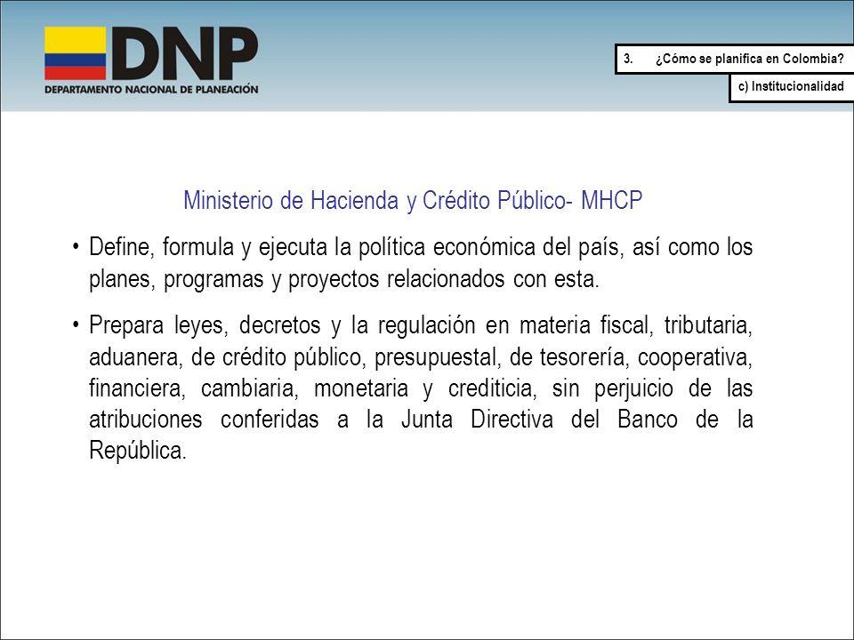Ministerio de Hacienda y Crédito Público- MHCP