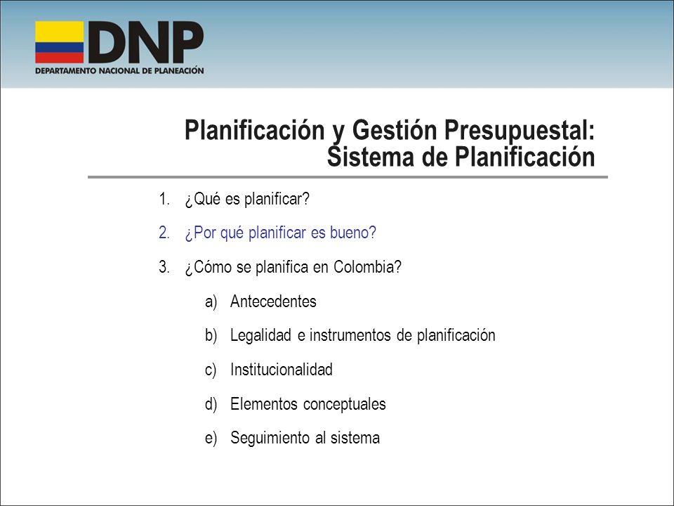Planificación y Gestión Presupuestal: Sistema de Planificación