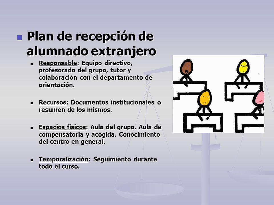 Plan de recepción de alumnado extranjero