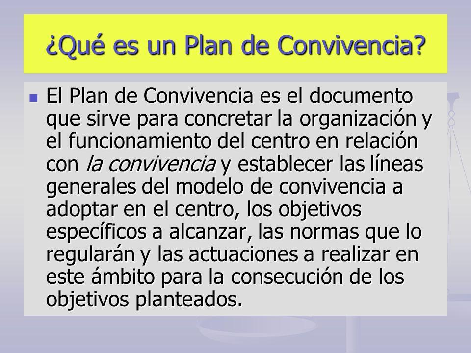 ¿Qué es un Plan de Convivencia