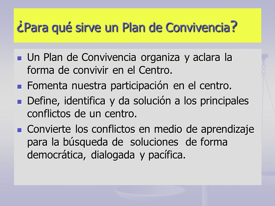 ¿Para qué sirve un Plan de Convivencia
