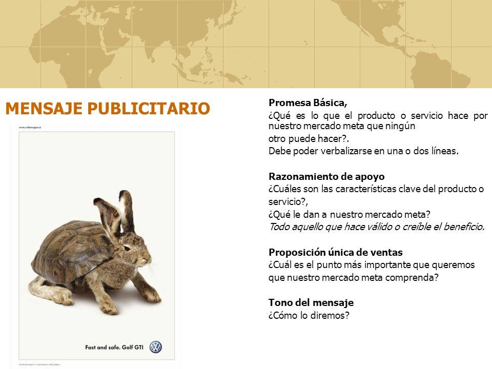 MENSAJE PUBLICITARIO Promesa Básica,