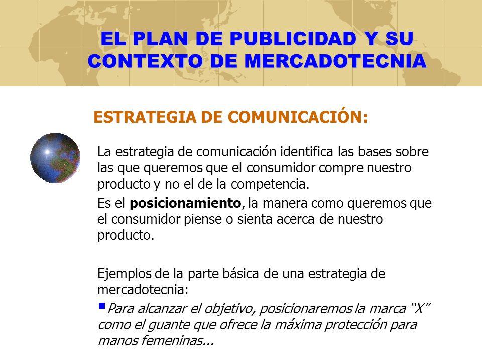 EL PLAN DE PUBLICIDAD Y SU CONTEXTO DE MERCADOTECNIA