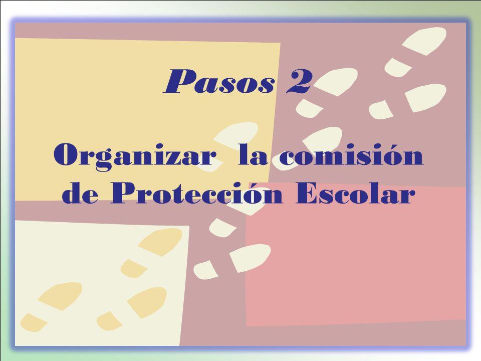 Organizar la comisión de Protección Escolar