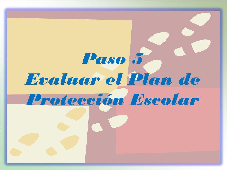 Evaluar el Plan de Protección Escolar