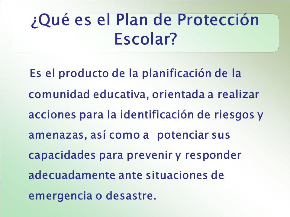 ¿Qué es el Plan de Protección Escolar