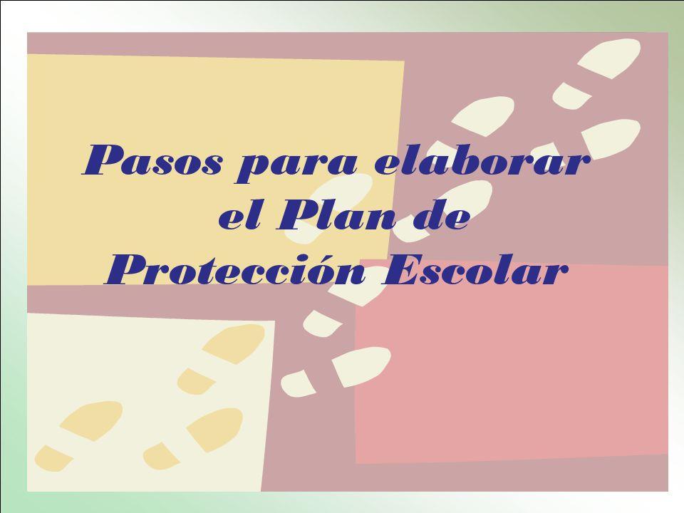 Pasos para elaborar el Plan de Protección Escolar
