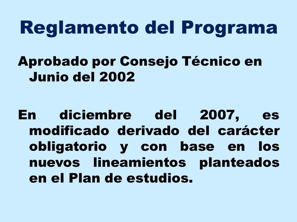 Reglamento del Programa