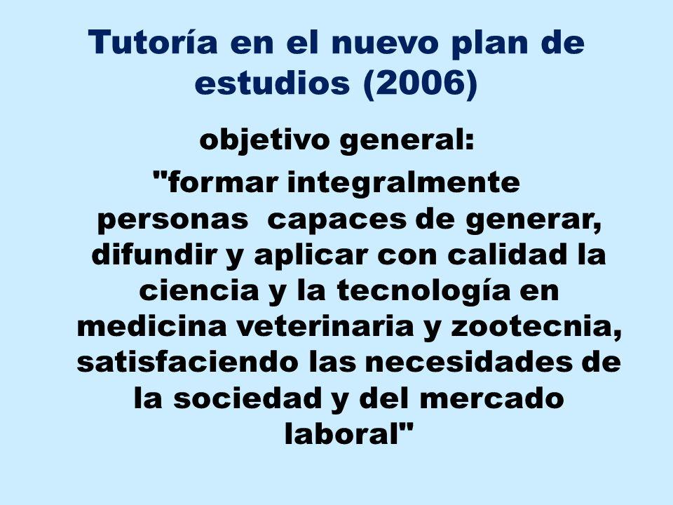 Tutoría en el nuevo plan de estudios (2006)