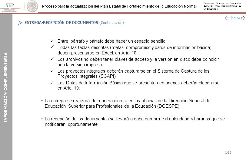 ENTREGA-RECEPCIÓN DE DOCUMENTOS (Continuación)