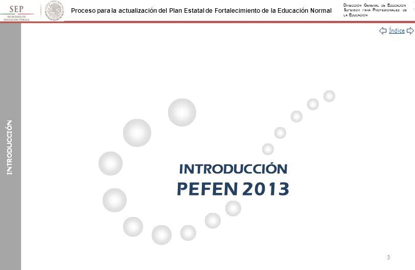 INTRODUCCIÓN INTRODUCCIÓN PEFEN 2013