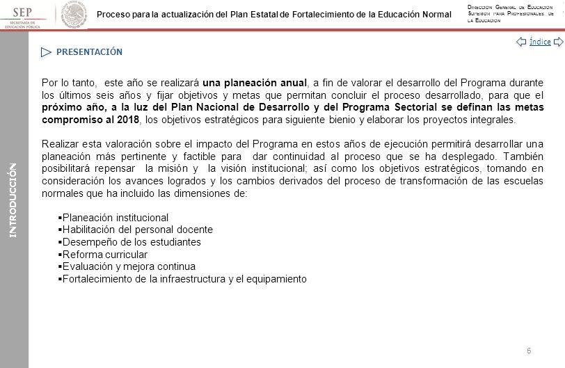 Planeación institucional Habilitación del personal docente