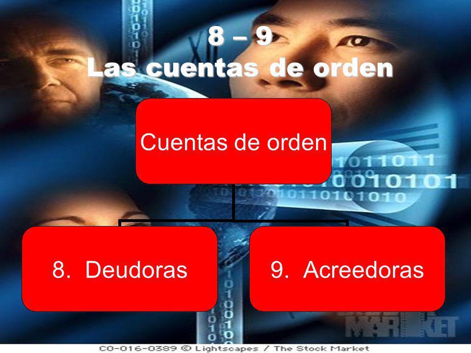 8 – 9 Las cuentas de orden