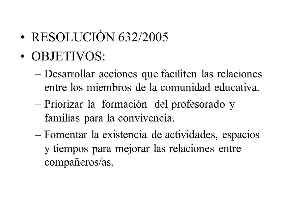 RESOLUCIÓN 632/2005 OBJETIVOS: