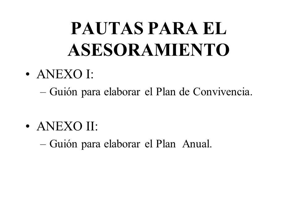PAUTAS PARA EL ASESORAMIENTO