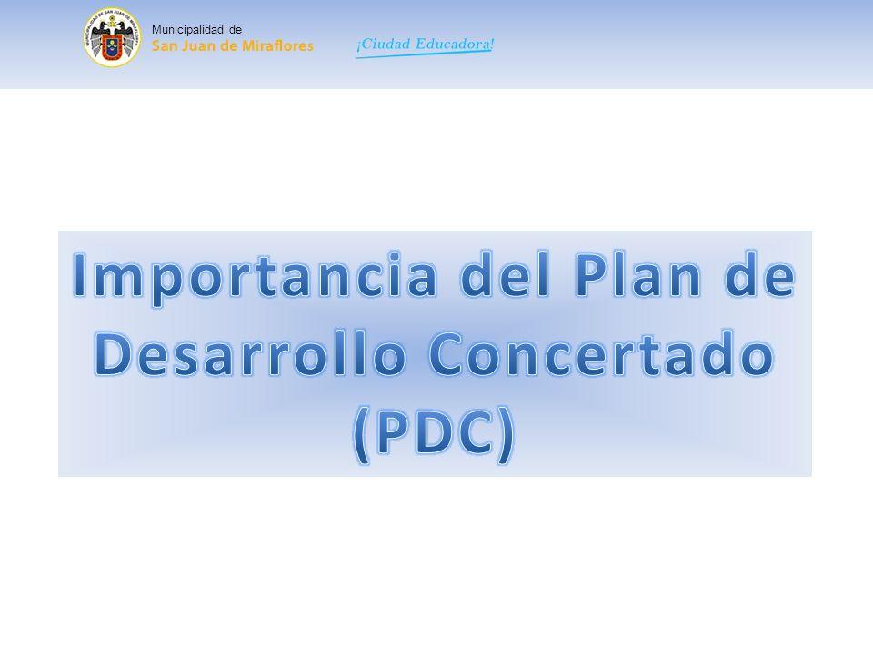 Importancia del Plan de Desarrollo Concertado
