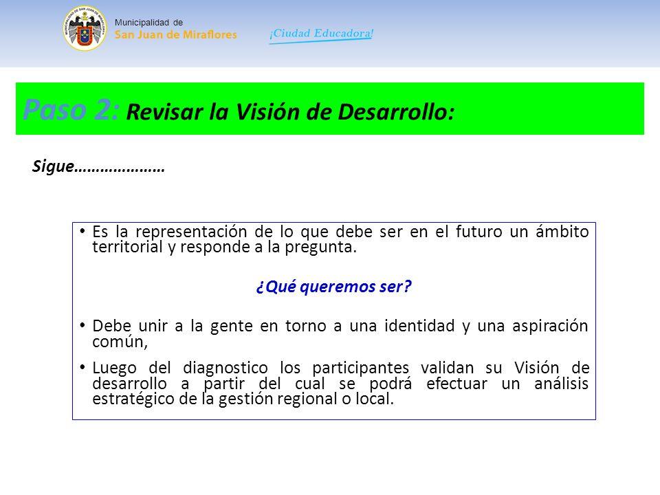 Paso 2: Revisar la Visión de Desarrollo:
