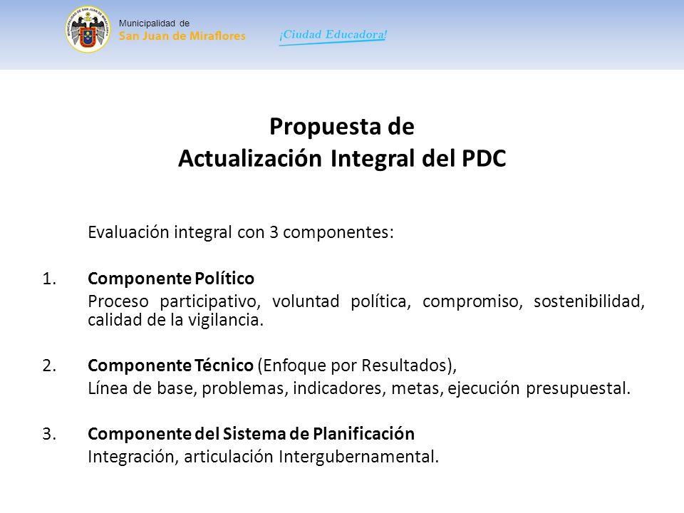 Propuesta de Actualización Integral del PDC