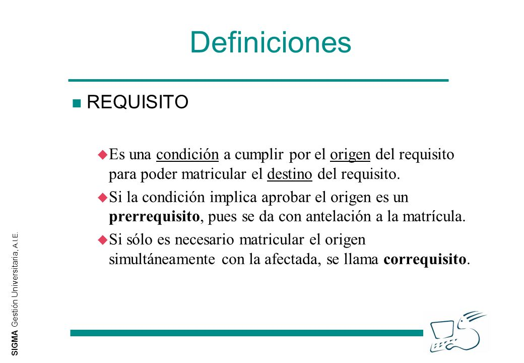 Definiciones REQUISITO