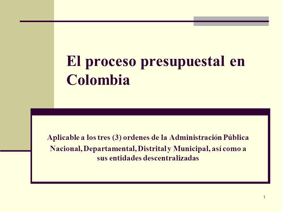 El proceso presupuestal en Colombia