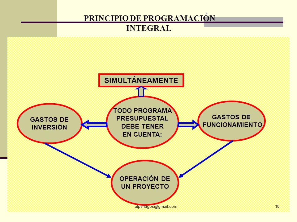 PRINCIPIO DE PROGRAMACIÓN INTEGRAL