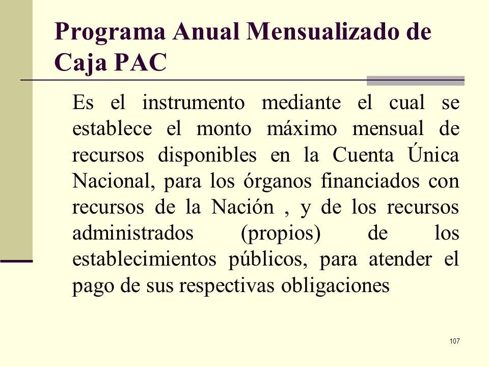 Programa Anual Mensualizado de Caja PAC