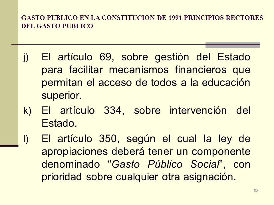 El artículo 334, sobre intervención del Estado.