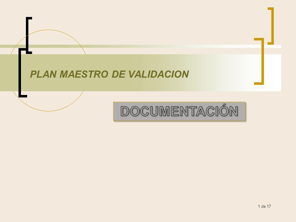 PLAN MAESTRO DE VALIDACION