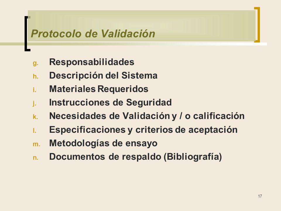 Protocolo de Validación