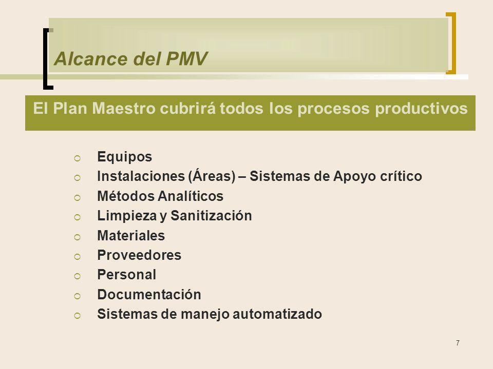 El Plan Maestro cubrirá todos los procesos productivos